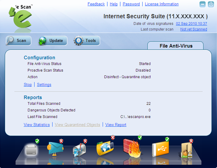 Click to view eScan Internet Security Suite screenshots