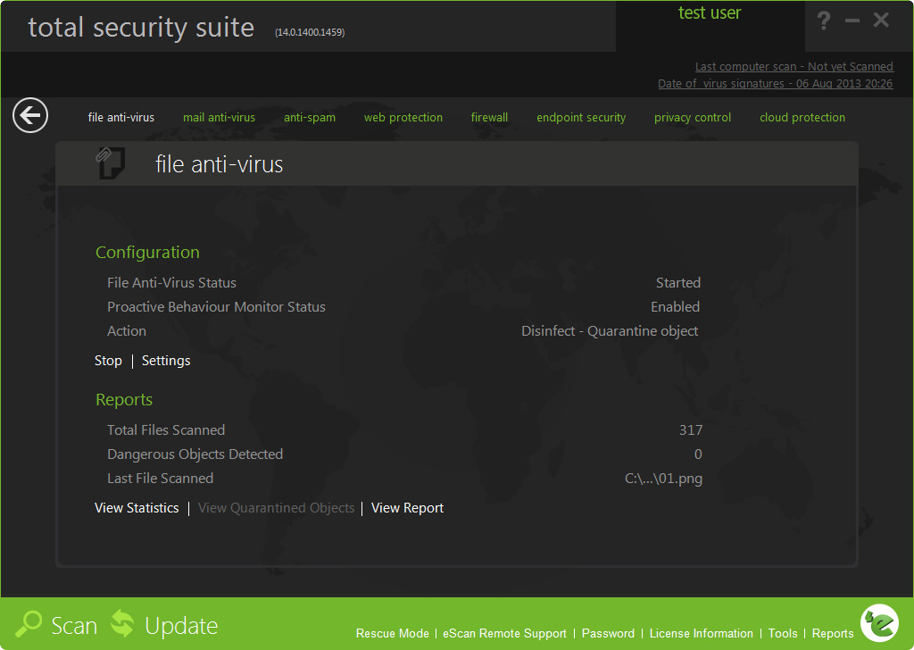 Click to view eScan Total Security Suite with Cloud screenshots